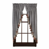 Beacon Hill Prairie Curtain Set of 2 63x36x18