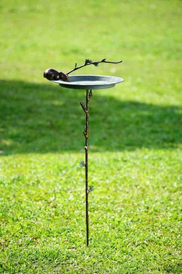 Bear And Branch Sundial Birdbath Excellent Lawn Decoration Upgrade Brand SPI-HOME