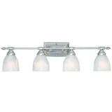 Beautiful 4 Lights Vanity Lighting in Brush Nickel by Yosemite Home Decor
