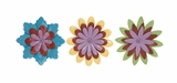 Beautiful and Adorable Assorted Set of 3 Flower Wall Decor by Woodland Import