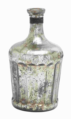 Glass Bottle Includes Minimal Styling - 27906 by Benzara