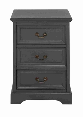 Beautiful and Compact Three Drawer Night stand Brand Benzara