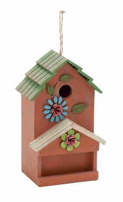Beautiful And Decorative Birdhouse Decor Made By Hardwood Pine - 55308 by Benzara