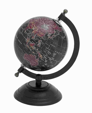 Beautiful and Elegant Metal Wood Globe with Contemporary Elegance Brand Woodland