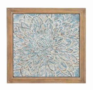 Beautiful and Elegant Metal Wood Wall Plaque Brand Benzara