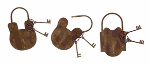 Beautiful And Enchanting Lock And Key Wall Decor With Rusted Iron Brand Woodland