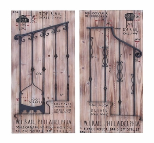 Beautiful And Enchanting Wood And Gate Railway Wall Plaque Brand Woodland