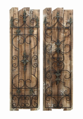 Beautiful And Enchanting Wooded Gate Wall Plaque With Aged Wood Brand Woodland