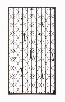 Beautiful and Intricately Designed Metal Wall Hook Panel Brand Benzara