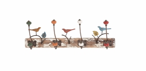 Beautiful Artistic Styled Wood Metal Wall Hook by Woodland Import