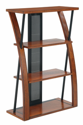 Beautiful Aurora Bookcase with Powder-Coated Black Accents by Office Star