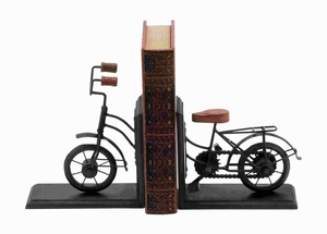 Beautiful Bookend Metal with Classic Cycle Design (Pair) Brand Woodland
