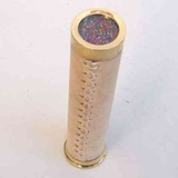 Beautiful Brass Handmade Kaleidoscope With Stitched Leather Brand IOTC