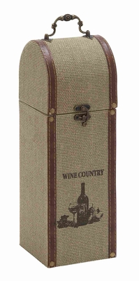 Beautiful Burlap Wine Holder With Durable And Weather Resistant - 62275 by Benzara