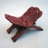 Beautiful Carved Wooden Bible Stand in Red by IOTC