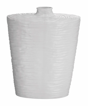 Beautiful Ceramic Vase With Narrow Elevated Opening At Top Brand Woodland