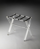 Beautiful Crystal Clear Acrylic Luggage Rack by Butler Specialty