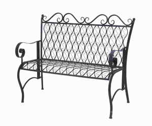 Beautiful Design Metal Bench With Conventional And Modern Style - 63378 by Benzara