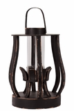 Beautiful & Elegant Design Wooden Lantern w/ Weathered Effect in Black