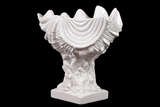 Beautiful & Elegant Trophy Modeled Ceramic Seashell in White