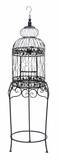 Beautiful Elevated Victorian Style Bird Cage With Wrought Iron Brand Woodland