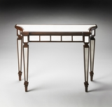 Beautiful Garbo Mirror And Mahogany Console Table by Butler Specialty