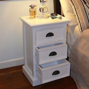Beautiful Halifax White Mahogany Nightstand or Sidetable by Infinita