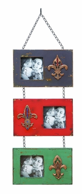 Beautiful Hanging Chain Photo Frame With Fleur-de-Lis Brand Woodland