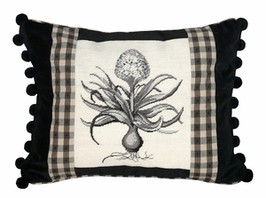 Beautiful Hyacinth Petit Point Pillow by 123 Creations