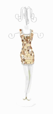 Beautiful Jewelry Holder Brandishing a Ravishing Sequined Body Brand Woodland