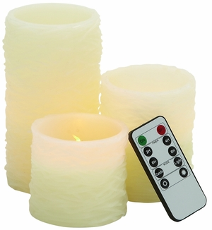 Beautiful Led Flameless Candle Remote Set by Woodland Import