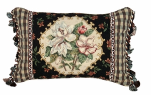 Beautiful Magnolia Petit Point Pillow by 123 Creations