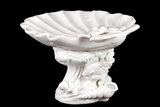 Beautiful & Mesmerizing Ceramic Seashell Platter in White