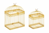 Beautiful Metal Acrylic Bird Cage by Woodland Import