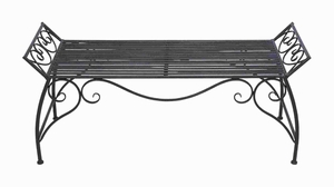 Beautiful Metal Bench Suiting Conventional and Modern interiors Brand Woodland