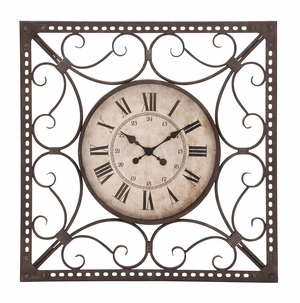 Beautiful Metal Clocks Dual Calibrated In Roman And Numeric Letters Brand Woodland