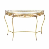 Beautiful Metal Console Table with Traditionally Design Brand Woodland