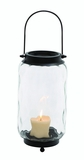Beautiful Metal Glass Lantern 2 Assorted by Woodland Import