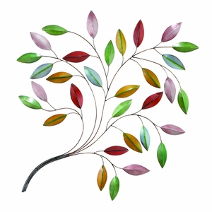 Beautiful Metal Leaf Wall Decor Crafted with Intricate Detailing Brand Woodland