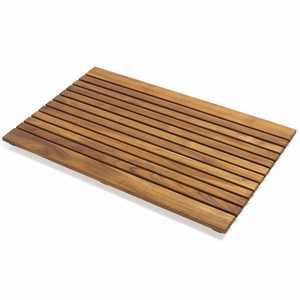 Beautiful Modish Styled Teak Floor Mat by Infinita