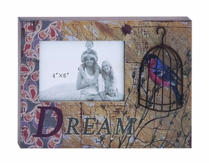 Beautiful Photo Frame Box With Inspirational Dream Message Brand Woodland