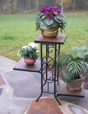 Beautiful Piece of Three Tier Slate Plant Stand by 4D Concepts