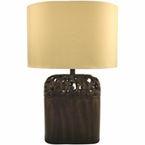 Beautiful Styled 1 Light Portable Lamp Collections in Antique Black by Yosemite Home Decor