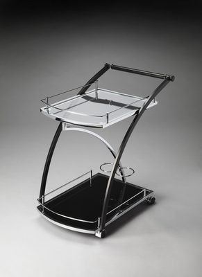 Beautiful Styled Lana Modern Serving Cart by Butler Specialty