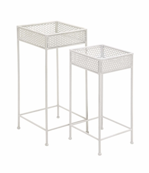 Beautiful Styled Metal Plant Stand by Woodland Import