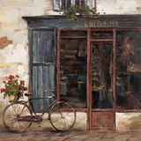 Beautiful Styled Rue De Bicyclette I Painting by Yosemite Home Decor