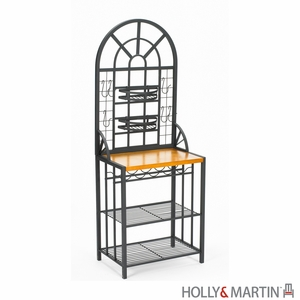 Beautiful Summit Metallic Multi Storage Baker's Rack by Southern Enterprises