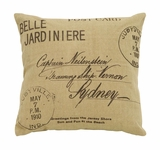 Beautiful Tan And Brown Paris Postcard Themed Pillow Brand Woodland