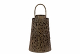 Beautiful & Unique w/ Skillfully Craft Design Wooden Lantern in Brown