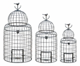 Beautiful Victorian Style Bird Cage With Wrought Perching Bird Brand Woodland